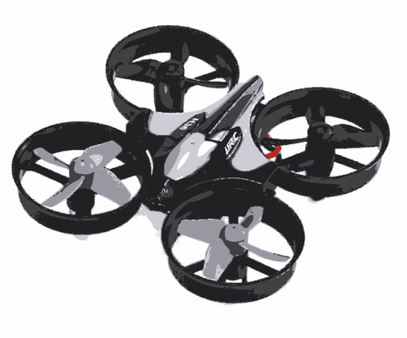 E010-Black-Grey-Vector Mini Drohne Drone unter 250g