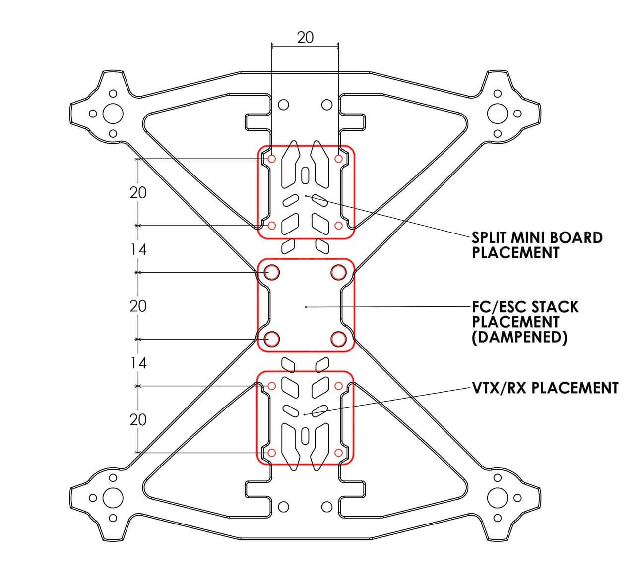 Rotor Riot Ummagawd Acrobrat Technische Zeichnung Board Verteilung